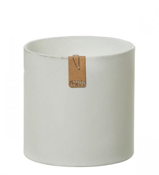 Recycling Übertopf 13 cm (Weiß, Steingrau, Schwarz) Oohh Topf Cylinder Tokyo von Lübech Living