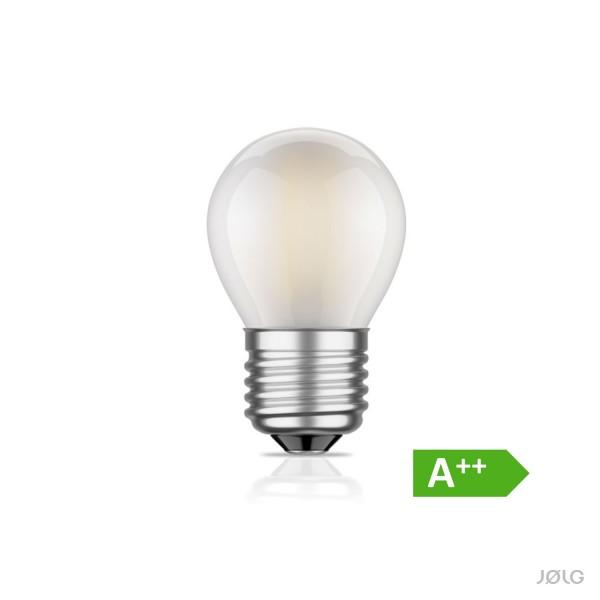 Mini E27 LED Lampe Filament matt G45 4W = 33 Watt warm-weiß 360 lm A++