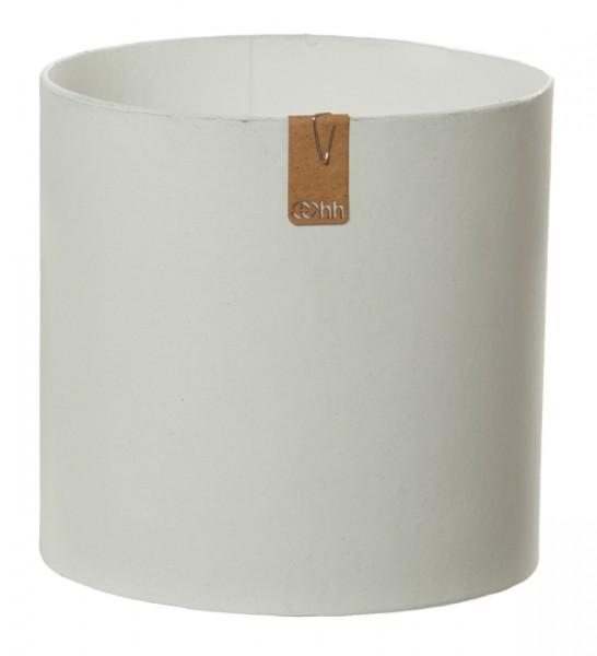 Recycling Übertopf 17 cm (Weiß, Steingrau, Schwarz) Oohh Topf Cylinder Tokyo von Lübech Living