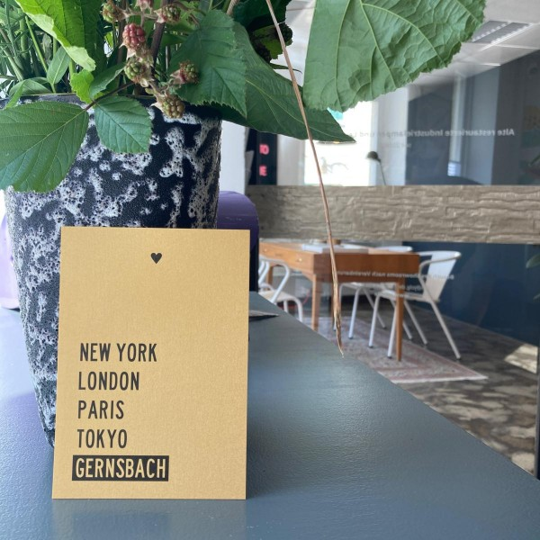 Gernsbacher Postkarte | New York, London, Paris, Tokyo, Gernsbach