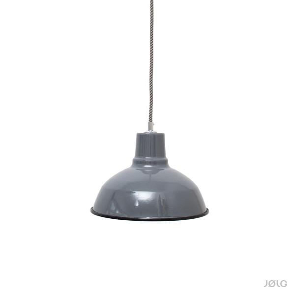 Graue emaillierte Industrielampe Ø 26 cm Hängelampe