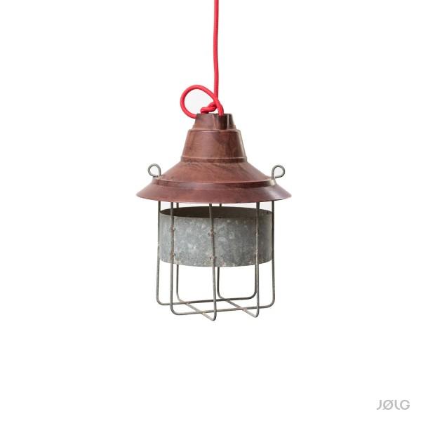 Vintage Bakelit Industrielampe mit Schutzgitter Ø 22 cm INFRASEC Bté. SGDG