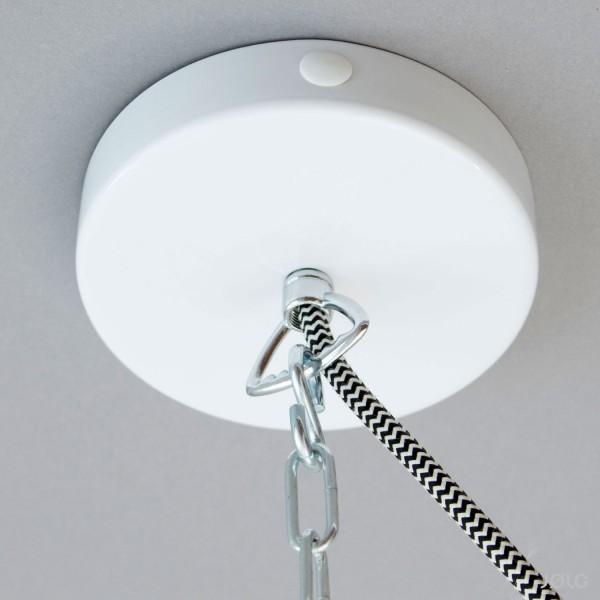 Metall Baldachin Weiß für Kettenaufhängung (mit Seitenauslass) Kettenbaldachin