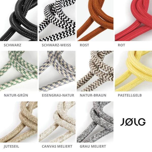 Vintage Textilkabel Stromkabel für JØLG Industrielampen   www.jolg ...