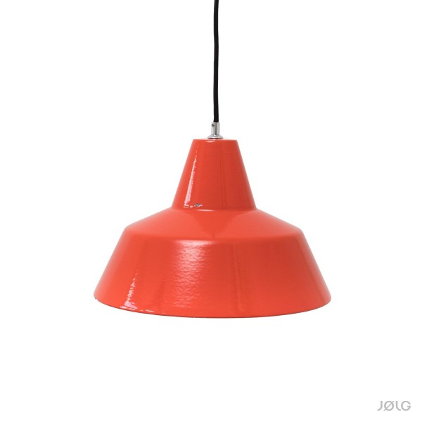 Vintage Louis Poulsen Kuli Industrielampe Rotorange Ø 35 cm