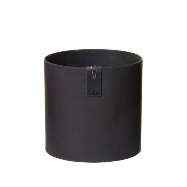 Recycling Übertopf 13 cm (Steingrau, Schwarz) Oohh Topf Cylinder Tokyo von Lübech Living