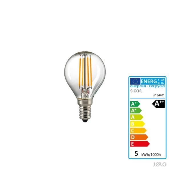 E14 LED Filament Kugel Leuchtmittel 4,5 Watt dimmbar / 470 Lumen