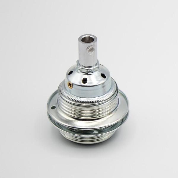 Fassung E27 Metall Klemmfassung mit Gewinderingen für Pendelleuchten Lampenbau - Lampenfassung