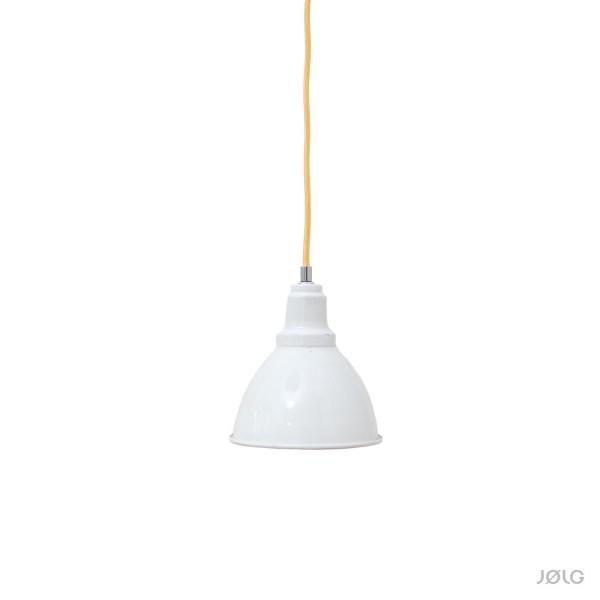 Weiße Emaille Spot Hängelampe Industrielampe Ø 18 cm ideal für Küchentheke, Bar etc.