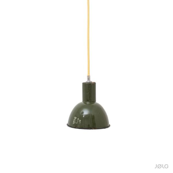 Emaillierte dunkelgrüne kleine Spot Industrielampe Ø 16 cm Hängelampe