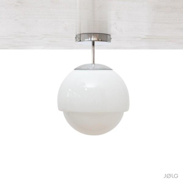 Vintage weiße Opal Glaskugel Deckenlampe Ø 24 cm Opalglas Art-Déco