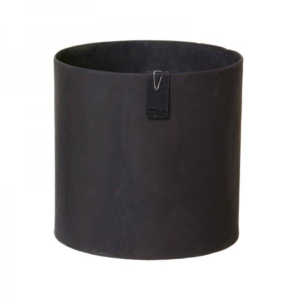 Recycling Übertopf 17 cm (Steingrau, Schwarz) Oohh Topf Cylinder Tokyo von Lübech Living