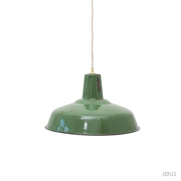 Grüne alte klassische Industrielampe aus Frankreich Ø 35 cm