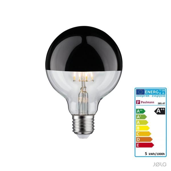 Schwarze kopfverspiegelte LED-FILAMENT 95 Lampe E27 520 lm