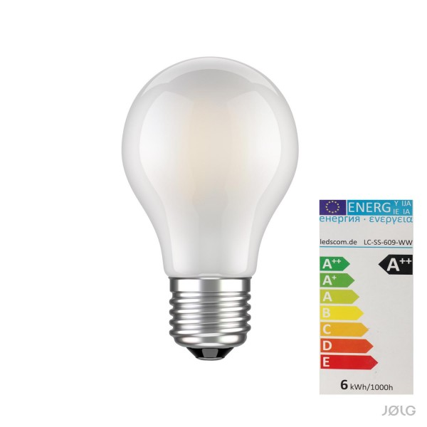 E27 LED Lampe Filament matt A60 6W = 60 Watt warm-weiß 780 lm A++