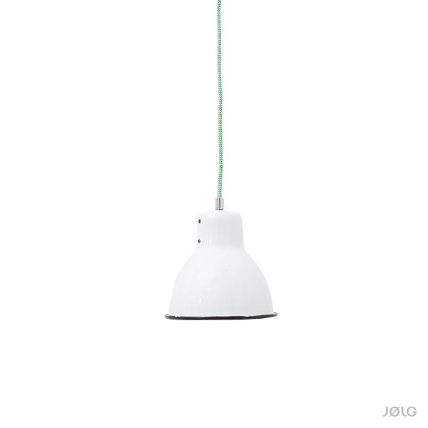Weiße vintage Emaille Spot Industrielampe Ø 17 cm