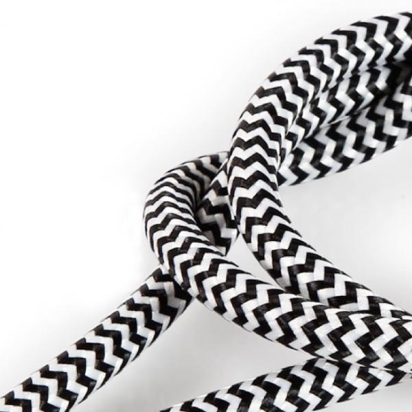 Textilkabel Stoffkabel 3-adrig textilummanteltes Stromkabel