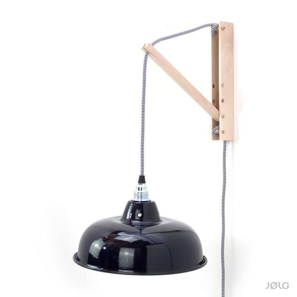 Wandhalterung Holz natur für Hängelampen (DIY Wandlampe)