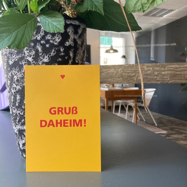 Postkarte | Gruß Daheim
