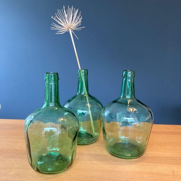 Vintage grüne Glasballon Weinballon Flasche Vase