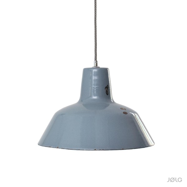 Vintage graue Emaille Industrielampe Ø 40 cm Bauhaus
