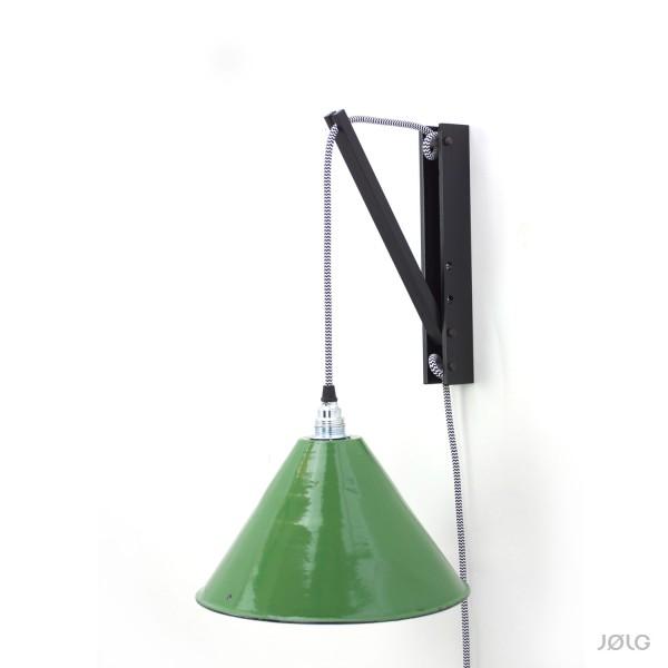 Wandhalterung Schwarz für Hängelampen (DIY Wandlampe)