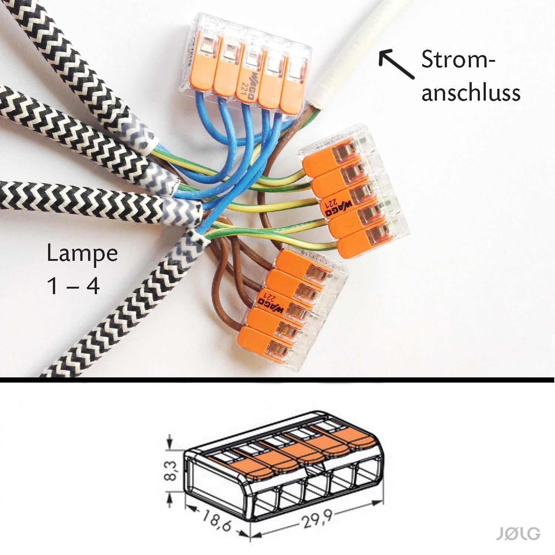 Wago Verbindungsklemmen Um 2 3 Oder 4 Jolg Industrielampen An Einen